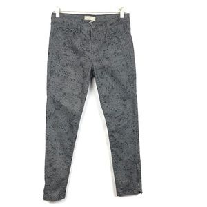 Banana Republic Skinny Fit Printed Stretch Pants